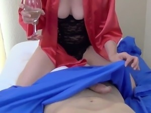 Sexy brunette with big boobs get a big dick