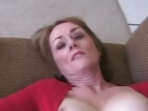 Amateur Granny 3some On Couch