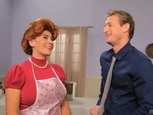 Raylene is a horny housewife in need of a lover's dong