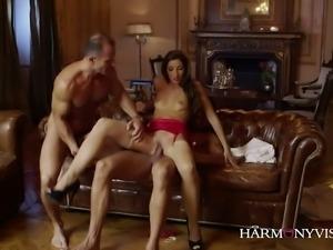 Versatile leggy slut Clea Gaultier gonna take double cock penetration