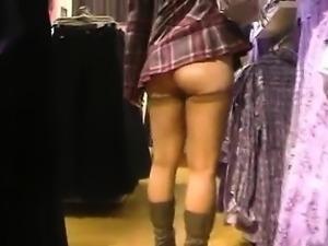 Upskirt public masturbation and nude outdoor flash
