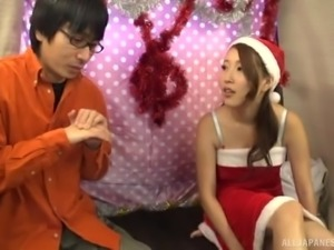 Cute Japanese babe is interested in sucking a dick