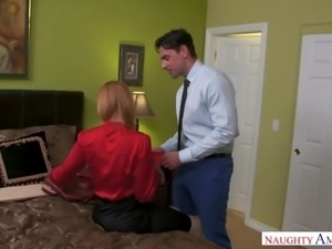Cheating red haired wife Lauren Phillips gets nailed in spoon pose