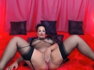 Pretty MILF Slut Plays with Her Pussy Solo with Toys