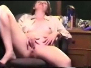 Vintage School Teacher Masturbates