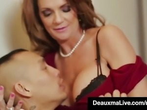 Horny Cougar Babe Deauxma Fucks Room Service Guy in Hotel!