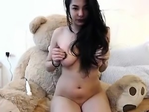 Hot cute Asian solo toys insertion