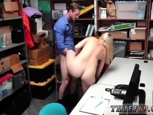 Dirty blonde smoking and getting fucked first time A
