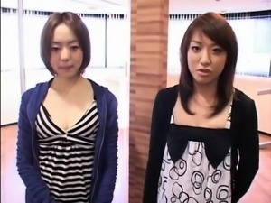 Horny Asian babes enjoy intense orgasms on the bicycle