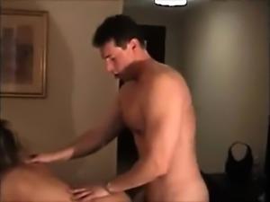 MILF amateur handjob blonde on knees receiving bukkake