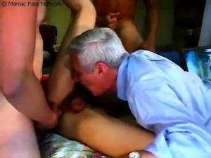 Sexy Asian ladyboy has three horny guys pounding her ass