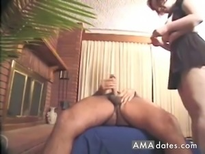 Hot milf rides her husband in reverse cowgirl position