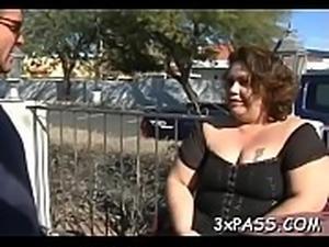 Darksome knob for fat girl
