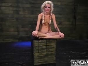 Extreme party girls and perfect natural teen Halle Von is