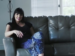 Just nice interview with busty raven haired MILF Angela White