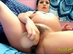 Pregnant Latina Babe SQUIRT so SEXY and HOT