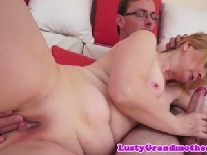 cockriding granny screwed from behind