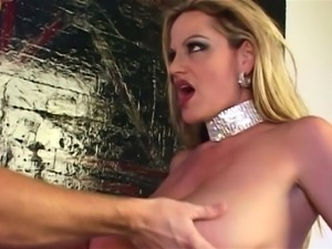 Elegant MILF Kelly Madison spreads her legs for a man's penis