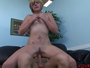 Young blonde gets unsure hardcore sex