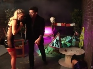 Jasmine Black and Gemma Massey seduce a man for a hardcore fuck