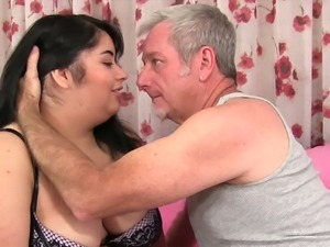 Lying almost face down BBW with giant booty Paige Jenson is fucked doggy