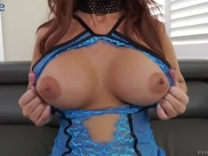 Versatile still sexy looking filth Syren De Mer works on four strong fat cocks