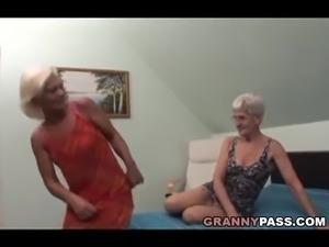 Hairy Granny Tries Lesbian Sex