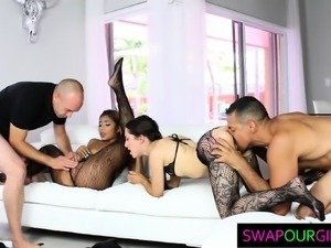 Hot Cutie Stepdaughters Swap Their Dads