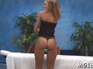 sensual babe likes a massage