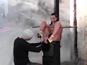 Cindy Dollar enjoys hardcore BDSM pleasures