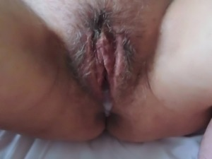 Cumslut has a creampie
