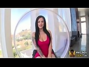 Pretty Inked Babe Katrina Jade Pierced Pussy Flash