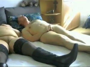 2 grandpa and 1 grandma bisex play