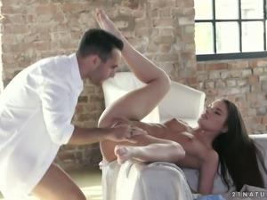 Sweet like candy Hungarian brunette Anita Bellini takes dick in her anus
