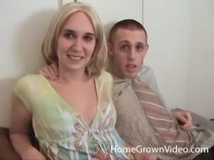 Couple films their first homemade porn
