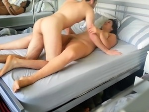 Voluptuous milf gets nailed missionary style on hidden cam