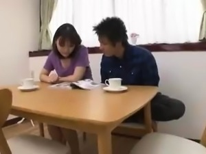Luscious Japanese wife has a fiery peach yearning for action