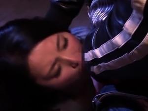 Striking Japanese babe gets the rough fucking she deserves