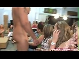 CFNM babes suck dicks at bachelorette party