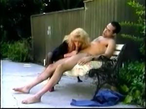 Perverted curly haired vintage slut Tina Owen gives stud a good BJ