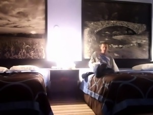 Lustful blonde wife enjoys a hot threesome on hidden cam