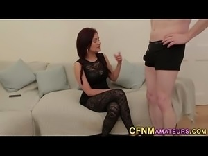 Cfnm amateur stroking