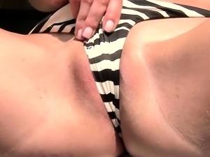 Twistys - Nataly Von starring at A Bikini Kin