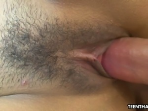 Kinky spoiled Thai slut Amy gets her own disgusting cunt fucked mish