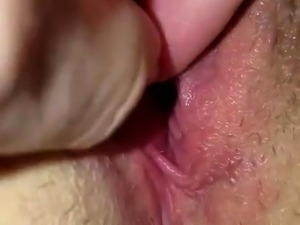 Amateur wife cream pie POV