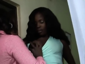 African lesbians Meganand Veronica are horny and want to