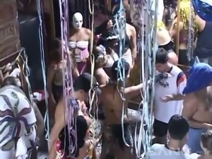 This group of nasty sluts love to party and they love giving oral sex in public
