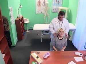Bent over patient fucks doctors dick