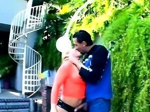 Slutty Blonde Whore Enjoys Hardcore DP Threesome