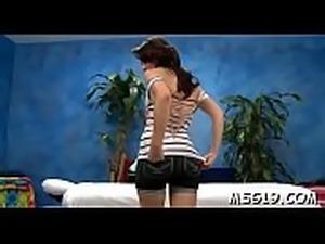 Sweet massage babe looks nice being impaled on hard wang